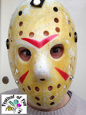 Deluxe Hockey Horror Mask ~ Jason Voorhees Style ~Halloween Friday 13th The (Deluxe Jason Voorhees Maske)