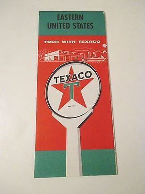Vintage TEXACO EASTERN US Gas Service Station Road Map