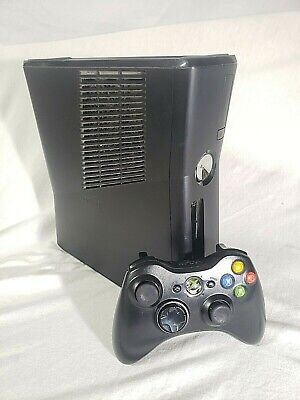 Microsoft Xbox 360 S Slim Model 1439 Console Tested W/Controller