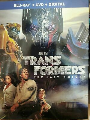 Transformers: The Last Knight * Blu-ray, DvD, Slipcover * Like New