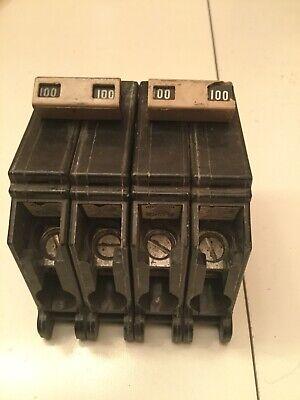 Lot Of 2 Cutler Hammer 100 Amp Breaker - 2 Pole - Ch2100 - Ctl 120240 V.a.c.