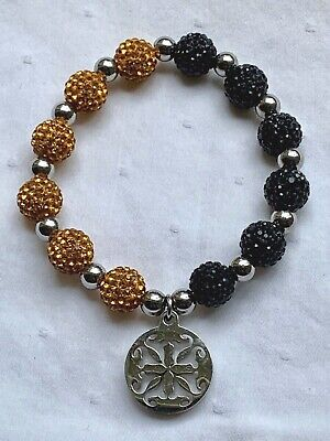 Rustic Cuff Kaleidoscope Black/Amber Bracelet