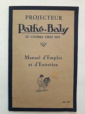VINTAGE PATHÉ-BABY MANUEL PROJECTEUR 1650 COMPLET 12 PAGES ANNEES 1920