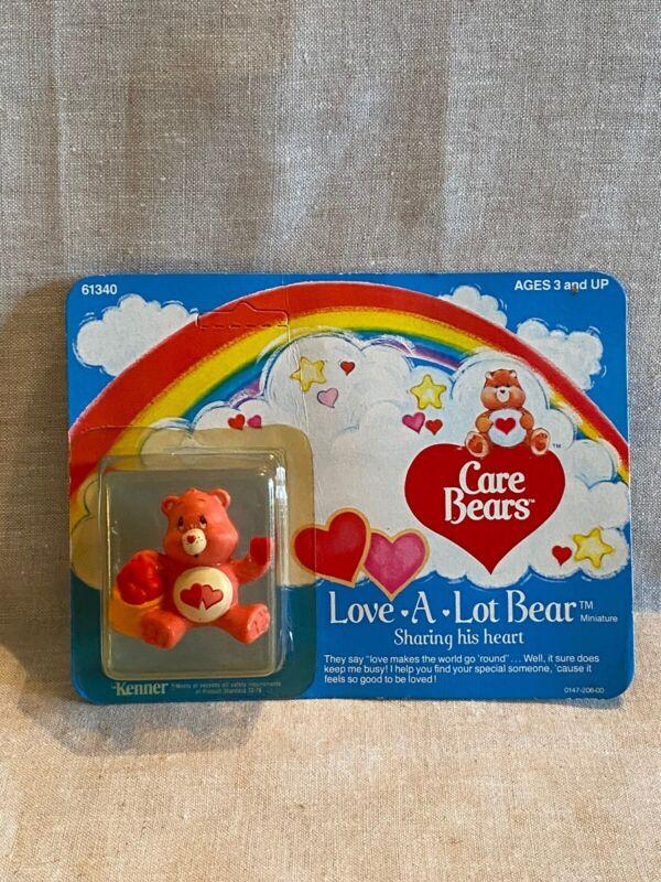 1985 Vintage Care Bears LOVE A LOT BEAR MINIATURE Figure New on Card KENNER 6