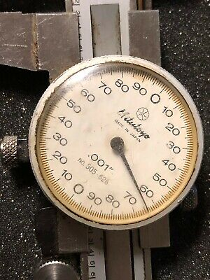 Mitutoyo 6 Inch Dial Caliper No. 505-626 Hardened Stainless W Case 6 Japan