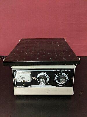 Lab-line 3520 Orbital Shaker 400 Rpm 60 Min Timer Threaded Platform Tested