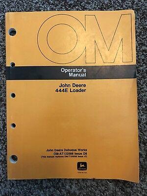 John Deere 444e Wheel Loader Owner Operator Maintenance Manual Omat122588