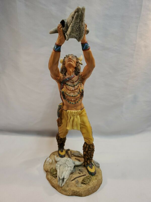 Hamilton Collection TALISMAN OF THE BUFFALO Native American Indian Statue Figure