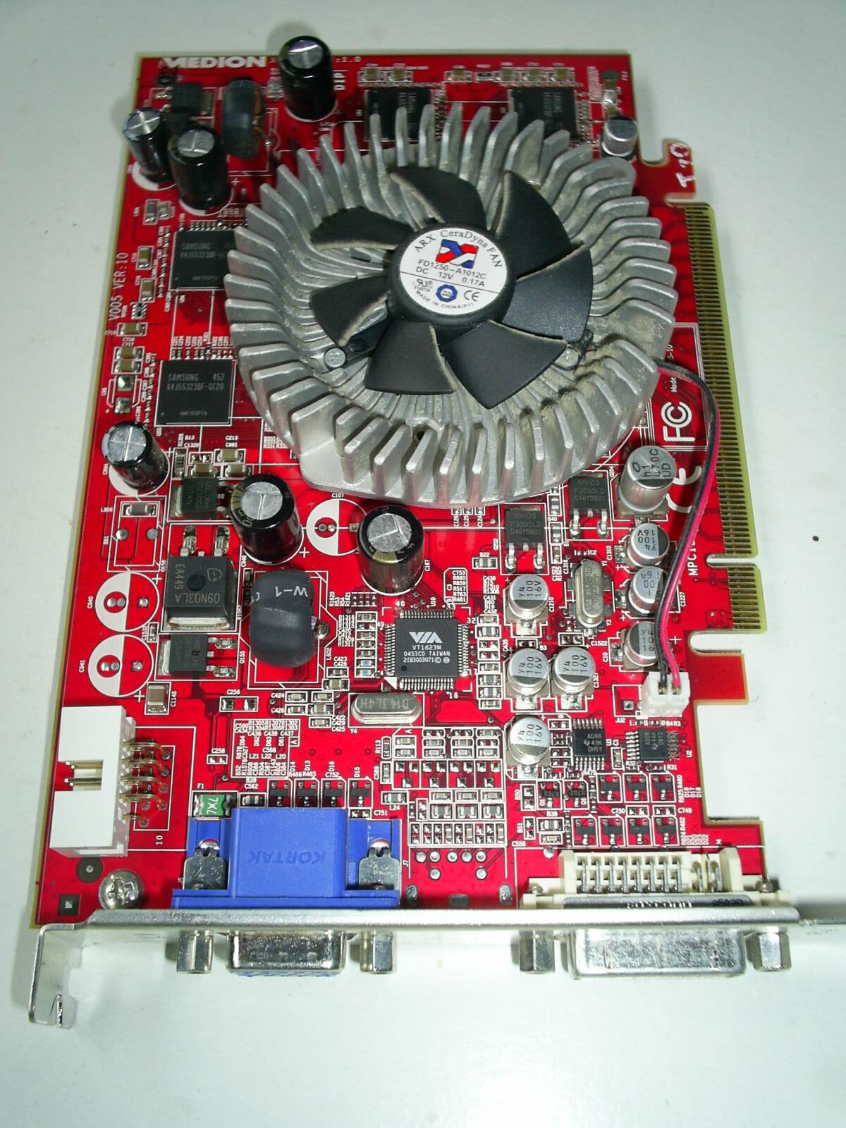 MEDION ATI RADEON X 740 XL GRAFIKKARTE PCI-Express 128 MB VGA  DVI - TOP