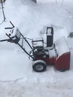Snow blow and shovel driveway's