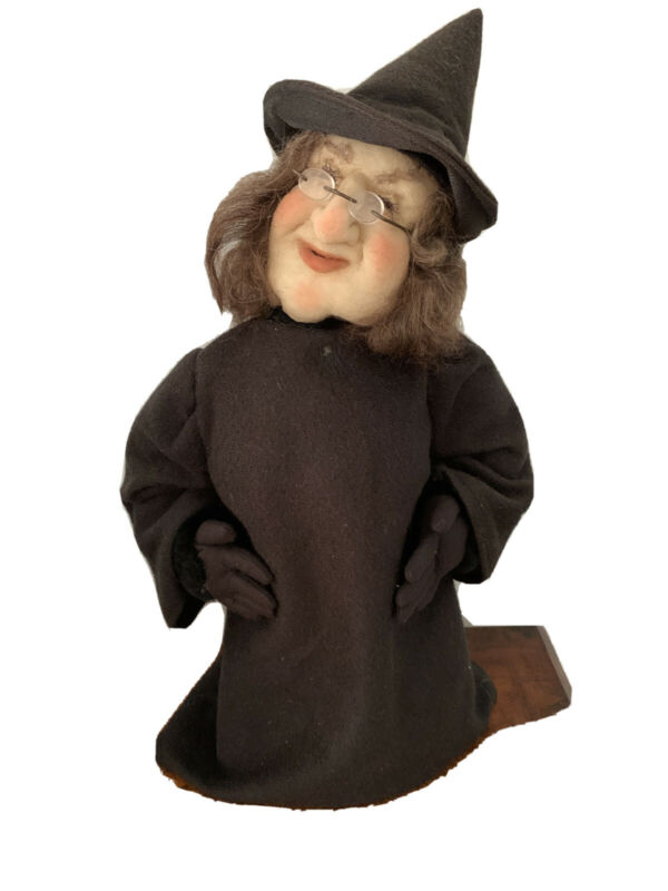 """Primitive Halloween Witch Doll Lynn's Soft Sculpture Eerily Life Like 17"""""""
