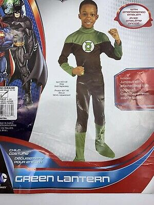 NEW Justice League Green Lantern Boys Costume Size Large L 12-14 Rubies 887683](Rubies Costume Sizing)