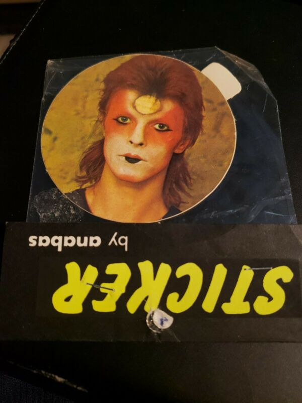 DAVID BOWIE vintage 1974 UK sticker ZIGGY STARDUST NEW-SEALED