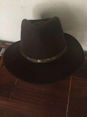 05a3b1fc333e57 Vtg Scala Men's Brown Wool Handmade Western Cowboy Hat Felt