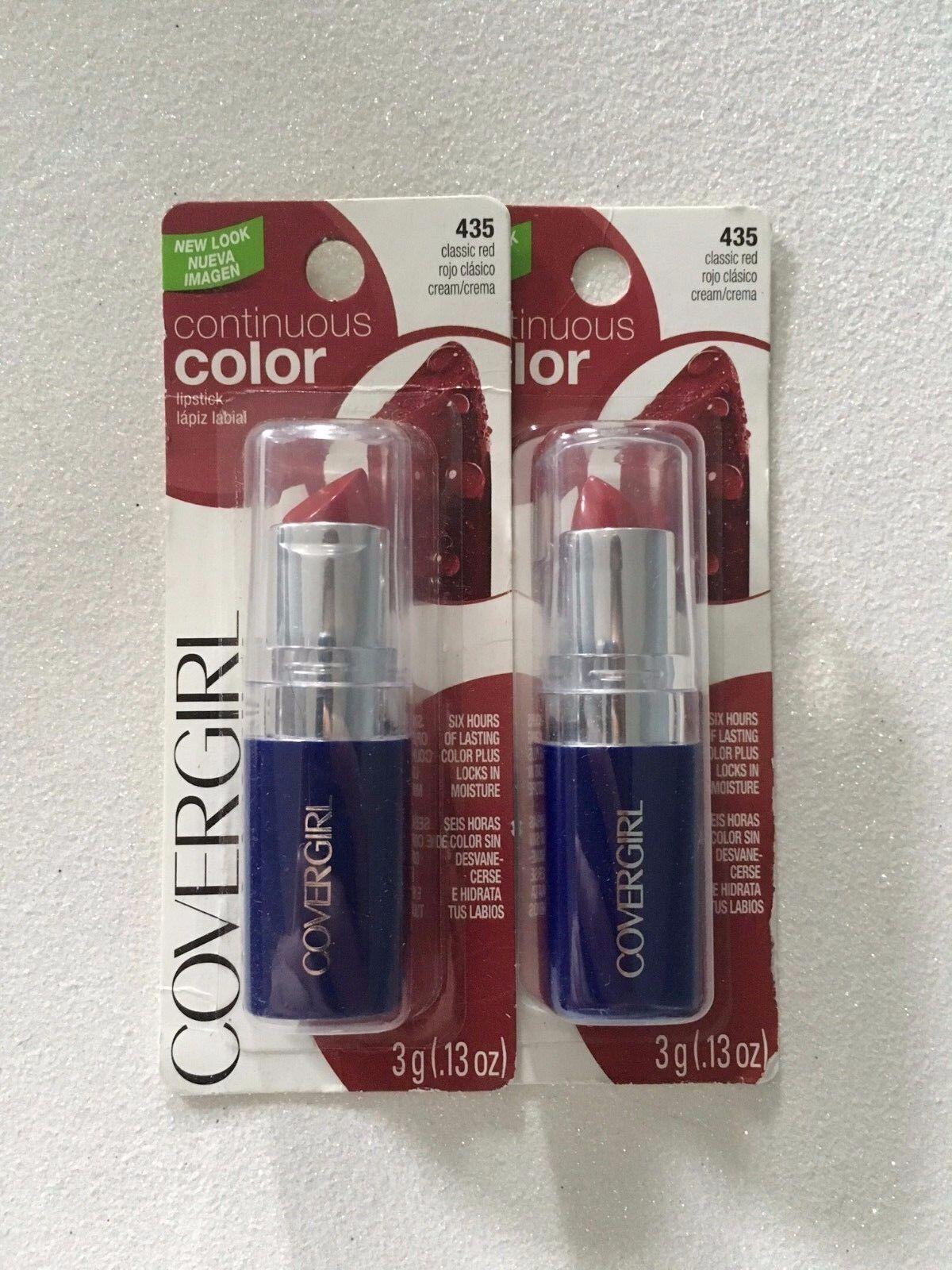 Los aus 2, Covergirl Kontinuierliche Farbe Lippenstift, 435 Klassisch Rot