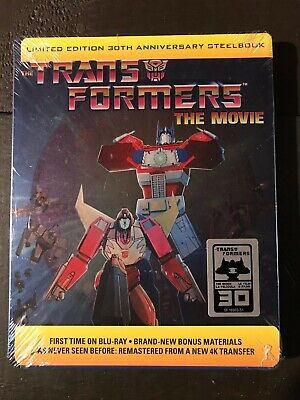 Transformers The Movie 30th Anniv. STEELBOOK Edition Bluray RARE! NEW Sealed USA