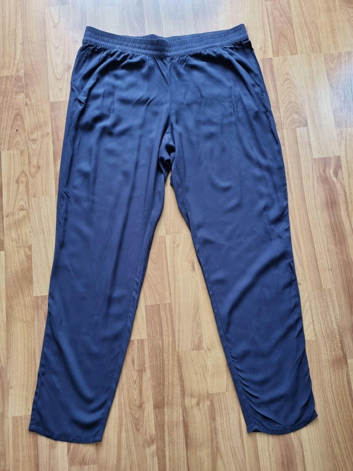 Leichte Sommerhose für Damen von H&M, dunkelblau, Gr. 44