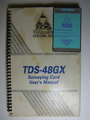 Tds Survey Gx Surveying Card For Use With The Hp-48gx With Manual