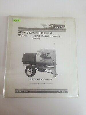 Stone Cement Mixer 1050pm 1265pm 1285pm 1650pm Serviceparts Manual 58