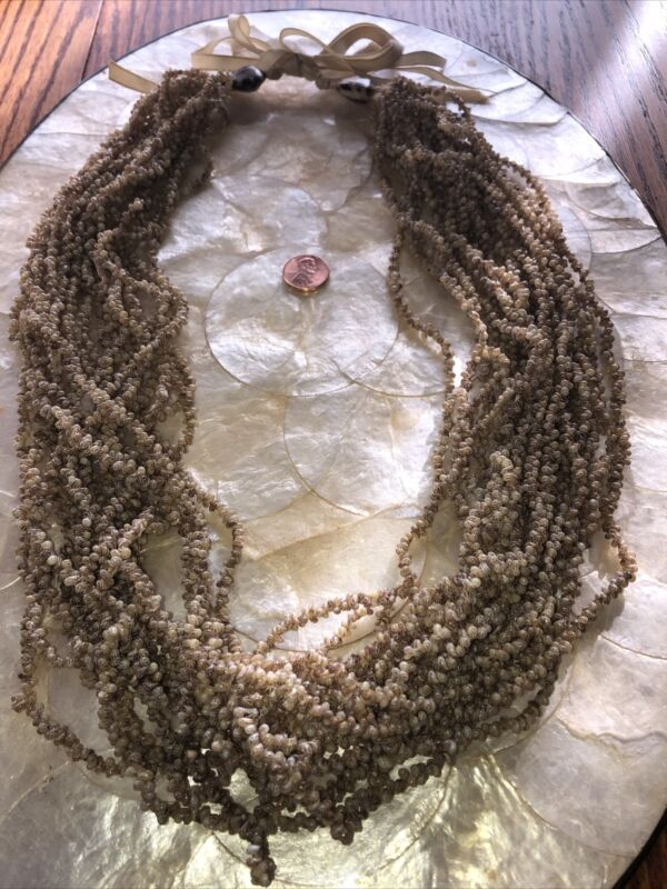Shell Necklace With Tiny Beige/Brown Freckled Shells-Purchased In Hawaii