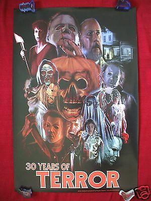 HALLOWEEN 30 YEARS OF TERROR ORIGINAL MOVIE POSTER CONVENTION ART 2008 NT - Halloween 30 Years Of Terror Poster
