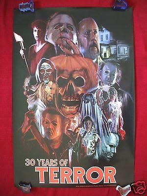 Halloween 30 Years Of Terror Poster (HALLOWEEN 30 YEARS OF TERROR ORIGINAL MOVIE POSTER CONVENTION ART 2008 NT)