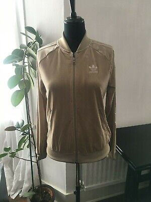 Brown Adidas Originals Mens SST Mesh Track Top Full Zip Jacket CD7594