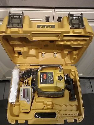 Topcon Rl-h4c Construction Laser Level Rechargeable Kit With Tripod And Rod