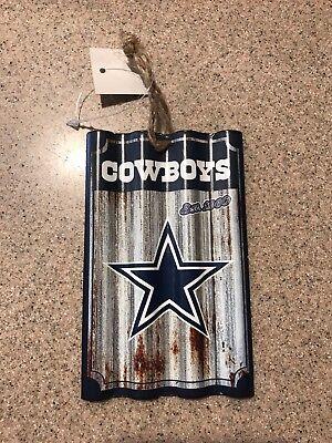 Dallas Cowboys NFL Metal Farmhouse Rustic Ornament Licensed Christmas - Dallas Cowboys Christmas Decorations