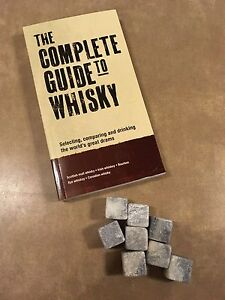 Whisky set- includes whisky stones and book