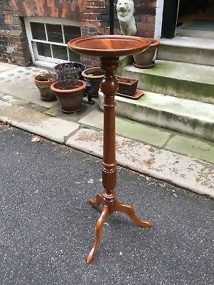 Twentieth century yew wood torchere or planter
