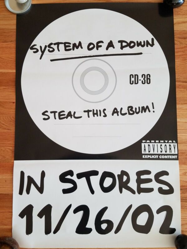 SYSTEM OF A DOWN - Steal This Album Record Release 2002 RARE! PROMO!