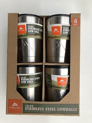 Ozark Trail 10 Oz Stainless Steel Tumbler Vacuum Insulated Double Wall 4 Pack, used for sale  Shipping to South Africa