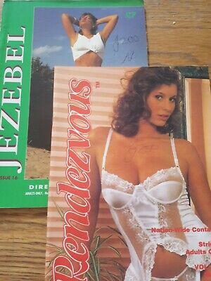2 x Vintage Glamour Adult contacts Magazines Rendezvous & Jezebel 16 & 218