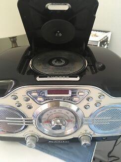 Radio, CD player, alarm clock