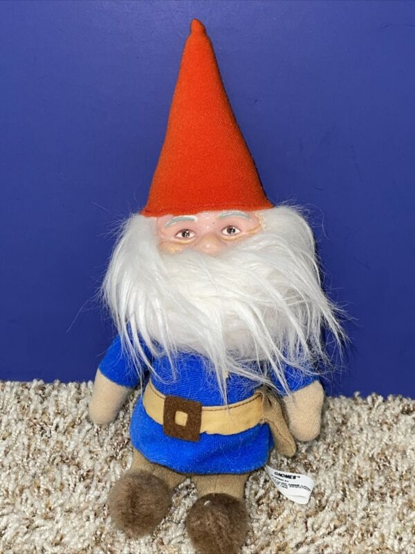 "Vtg 1978 10"" Knickerbocker Company Gnomes Plush Toy Doll Figure Stuffed Gnome"
