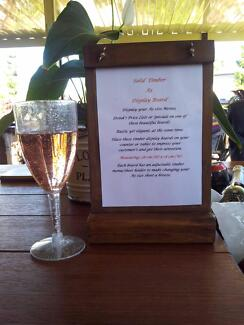 A5 Standing Menu Boards Drink Lists Wine and Cheese Specials Bars