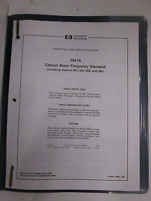 Hp 5061a Cesium Beam Frequency Standard Operating And Service Manual Used