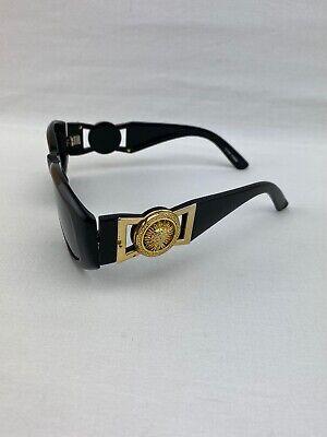 Vintage Gianni Versace  Black Medusa Gorgon Sunglasses