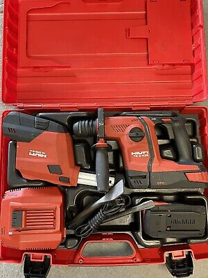 Hilti Te 6-a36 Hammer Drill W 2 Battery Charger Case And Bits P13