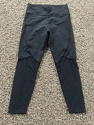 Womens Fabletics Leggings XL Black Athletic