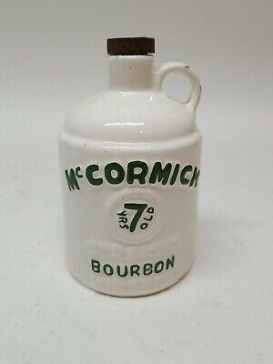 Vintage McCormick 7 Yrs Old Straight Bourbon White Whiskey 1/2 Pt Jug Whisky
