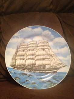 """ SAILING SHIP ""  Plate Decor Ingleburn Campbelltown Area Preview"
