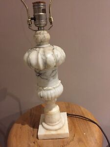 Solid marble lamp