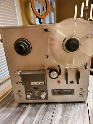 Akai 1710W Reel-to-Reel 1/4 Inch Stereo Tape Recorder  with Lid Works 1 Reel Inc