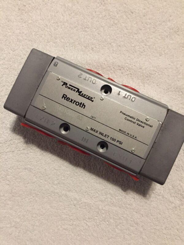 "Aventics Rexroth R431008563 PowerMaster Pneumatic Directional Control Valve 1/2"""