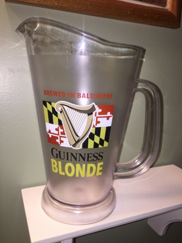 RARE Guinness Blonde Maryland Beer PITCHER Brewed In Baltimore Maryland MD