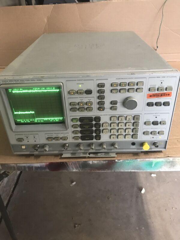 HP Agilent 3585A Spectrum Analyzer 20Hz-40MHz