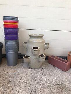 POTS ceramic terracotta plastic