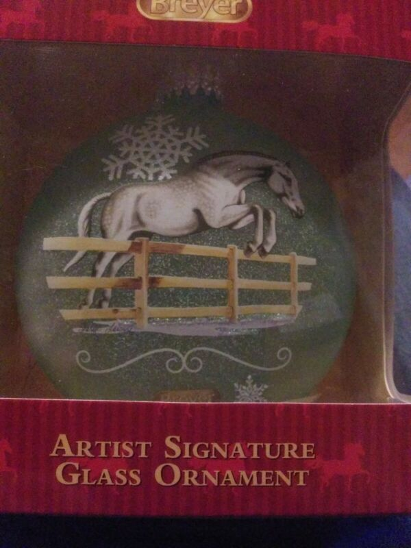 Breyer Horse Artist Signature Glass Ornament NIB